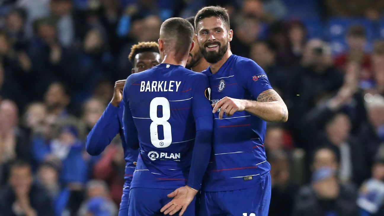 Olivier Giroud double keeps Chelsea perfect with 4-0 win against PAOK