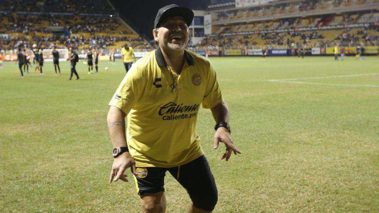Time de Maradona, Dorados fica a um empate de título no México, mas não terá seu técnico na decisão