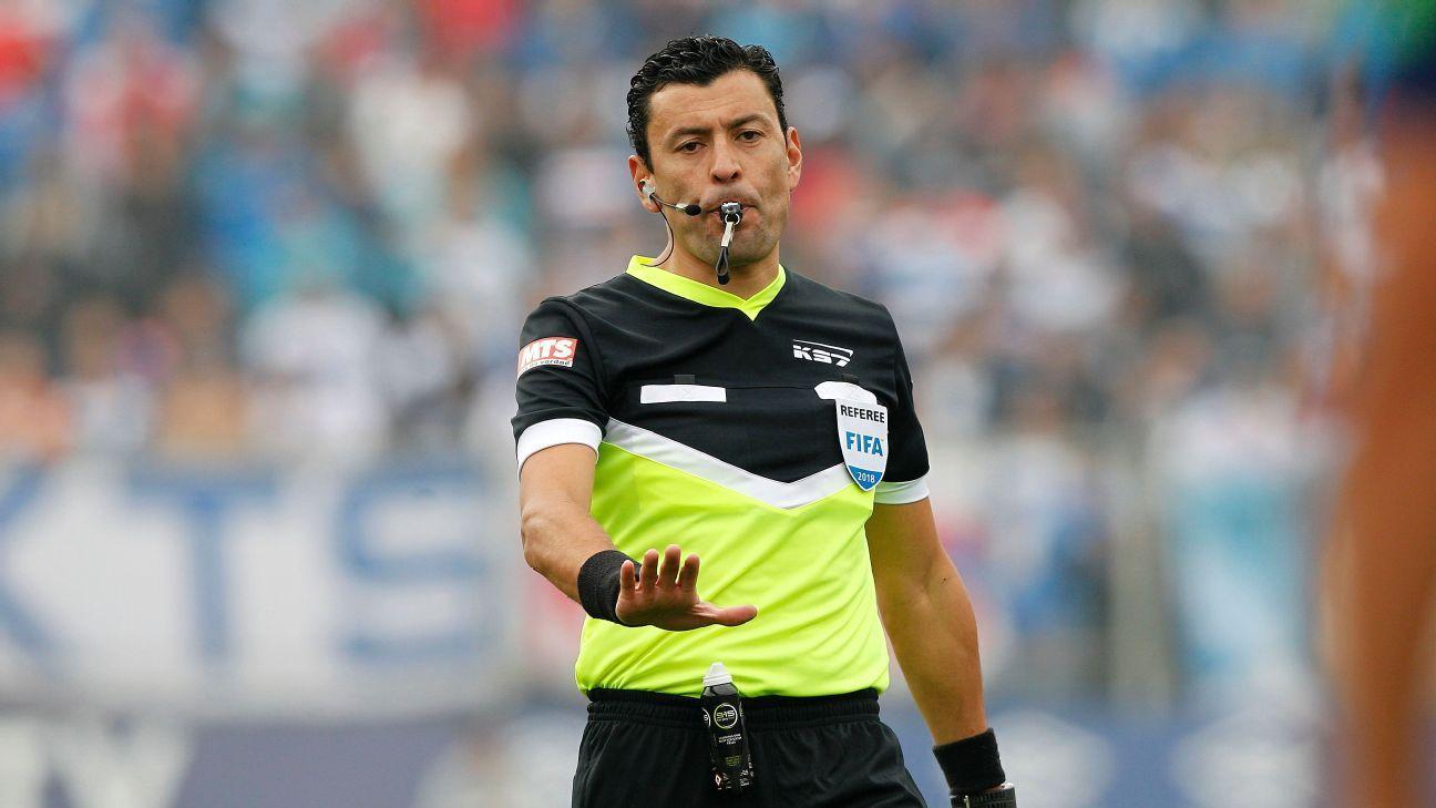 Tobar, Bascuñán y Maza arbitrarán en la Copa América