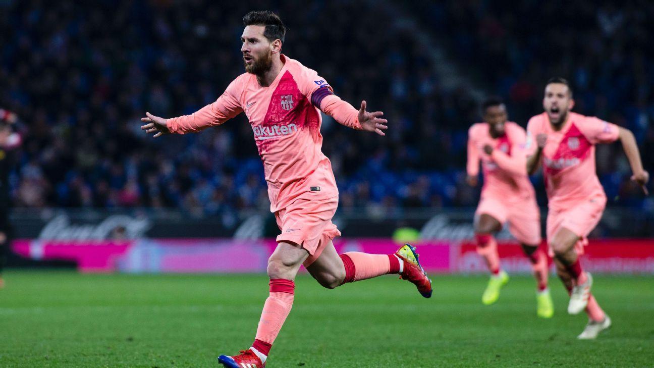 Weekend numbers: Lionel Messi's free-kick record, Romelu Lukaku ends home rut