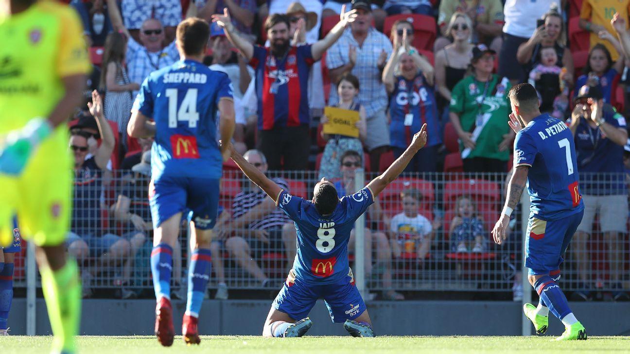 Jair's first A-League strike helps Newcastle Jets beat Brisbane Roar