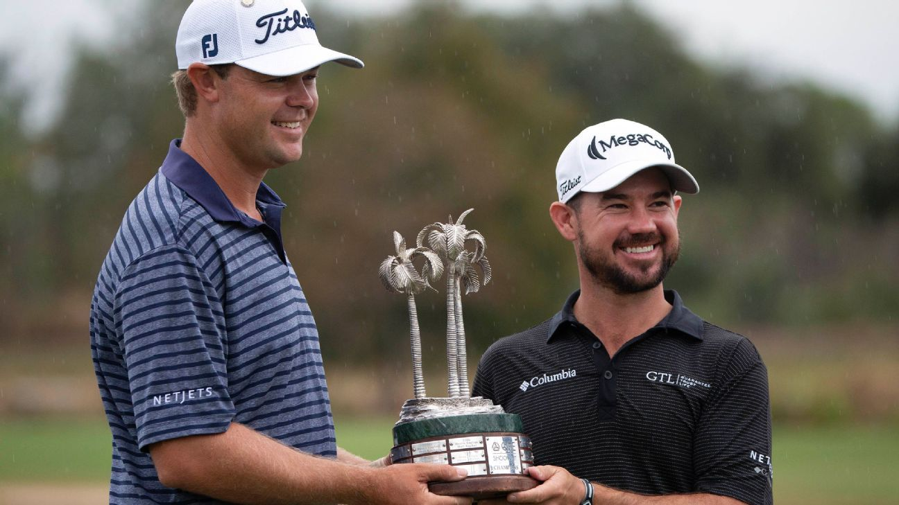 Patton Kizzire and Brian Harman win QBE Shootout after eagle on 17