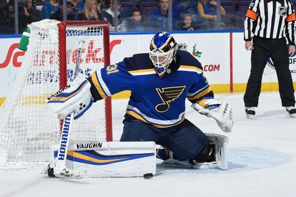 Struggling Blues put goalie Chad Johnson on waivers