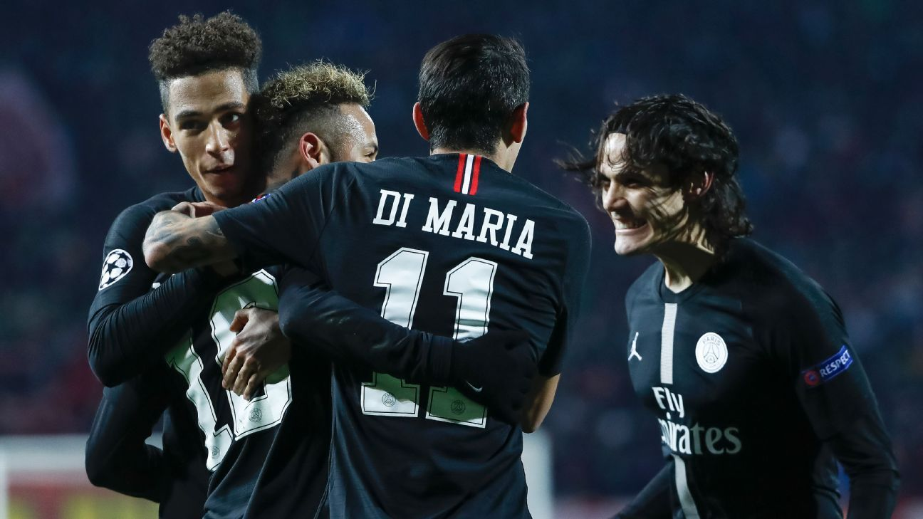 Paris Saint-Germain advance in Champions League after beating Red Star Belgrade