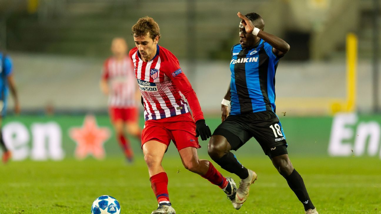 Atletico Madrid draw with Club Brugge to give Dortmund top spot in group