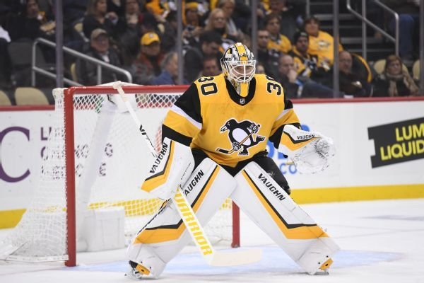 Penguins activate goalie Matt Murray (lower-body) from injured reserve