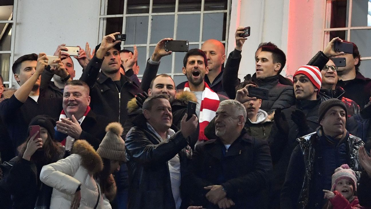 Red Star Belgrade gets loud support from tennis star Novak Djokovic