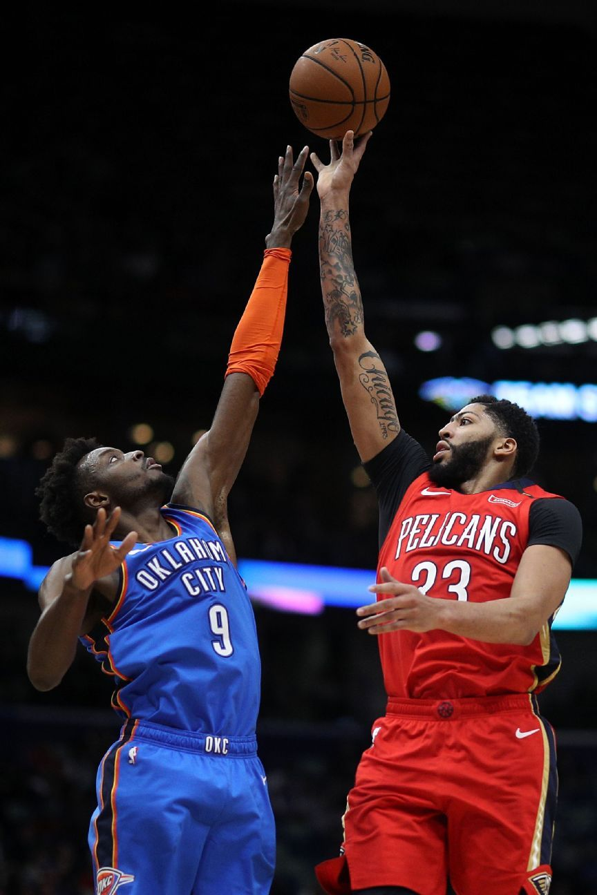 Anthony Davis scores 44 points in win over OKC's No. 1 defense