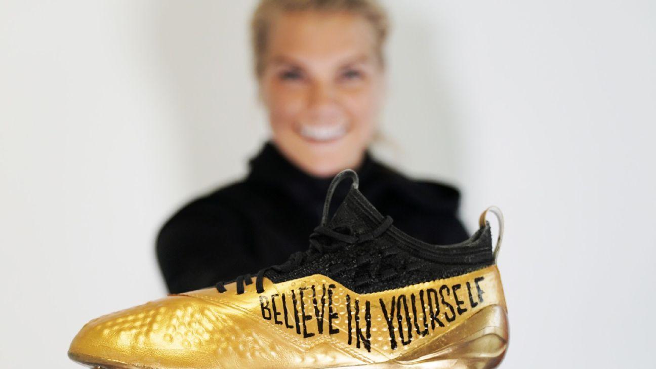 Ballon d'Or winner Ada Hegerberg unveils perfect boots to commemorate her golden achievement