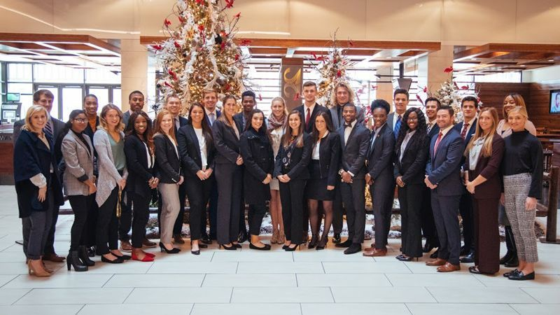 Student-Athletes participate in Corporate Career Tour