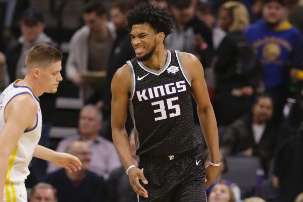 Kings rookie Marvin Bagley has left knee bone bruise, out 10-14 days