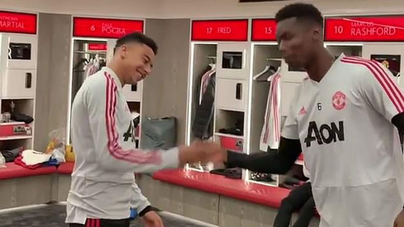Man United star Pogba wishes Lingard happy birthday with a little dance
