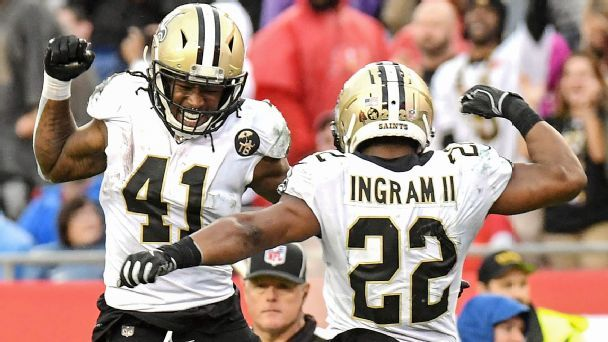 Alvin Kamara, Mark Ingram even harder to stop when they line up together