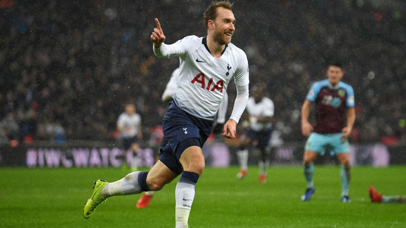 Tottenham saved by Christian Eriksen strike to net last-gasp Burnley win