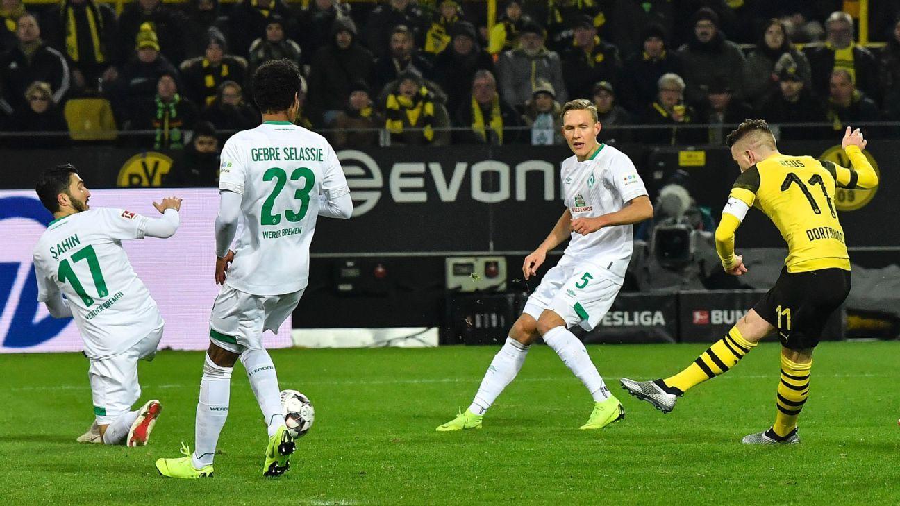 Borussia Dortmund nine points clear in Bundesliga as winter break looms