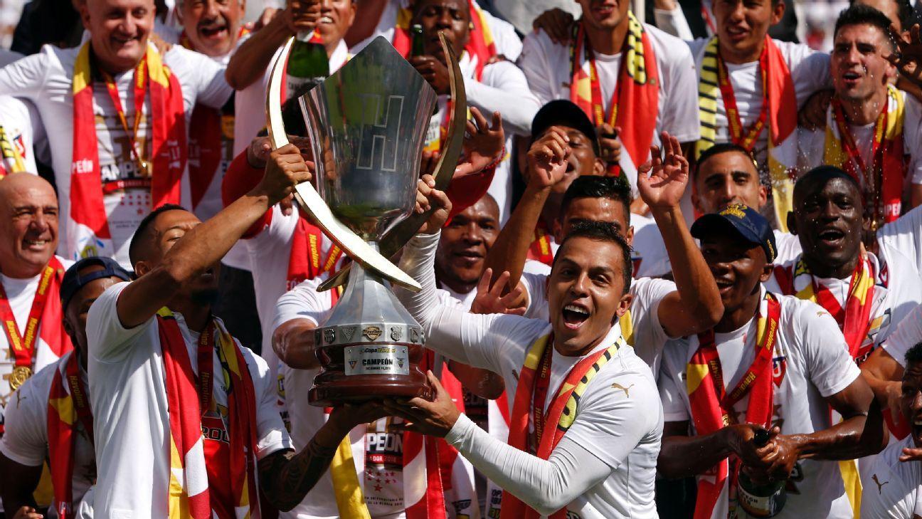 El historial del torneo ecuatoriano