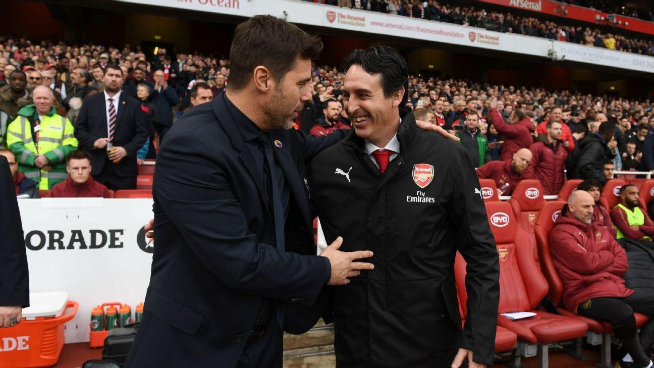 Arsenal's Unai Emery: Mauricio Pochettino 'very happy' at Tottenham amid Man United links