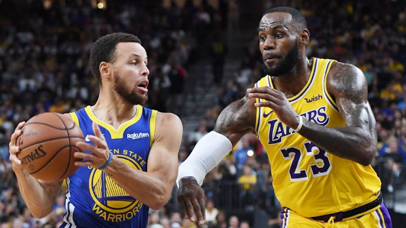 LeBron James y Lakers ganan guerra de playeras a Curry y Warriors