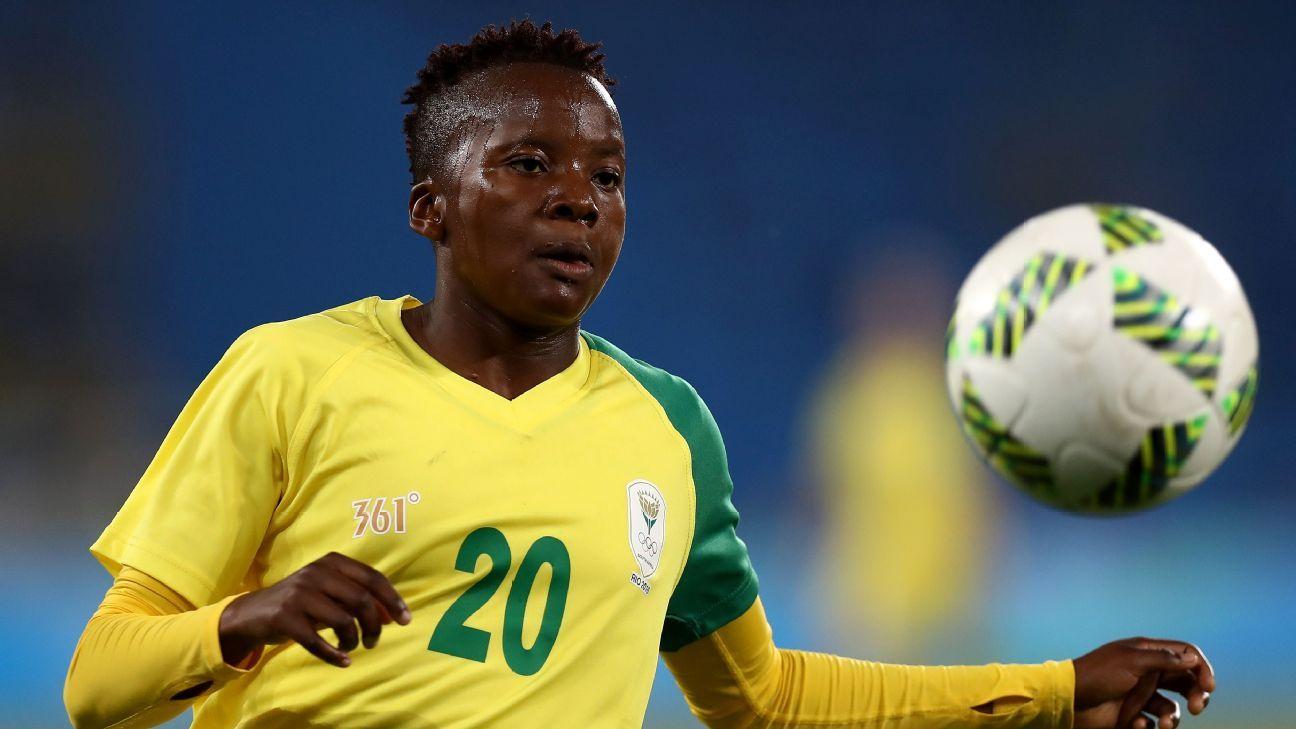 Thembi Kgatlana vai melhor que nigerianas e é eleita a rainha do futebol africano