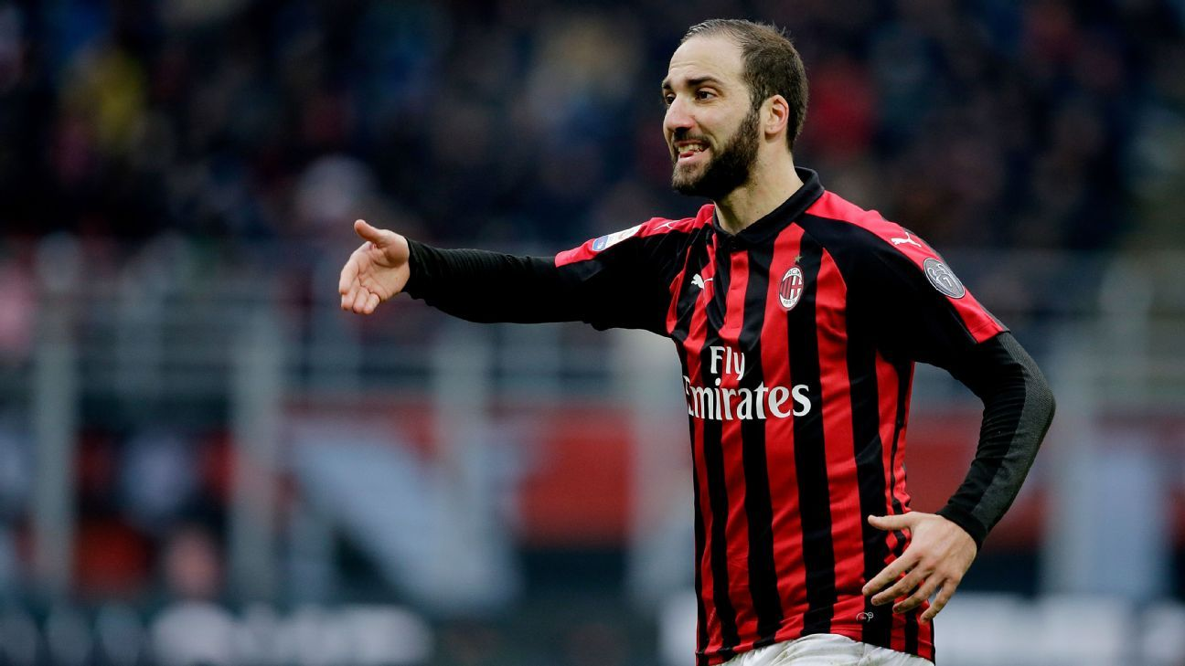 Chelsea target Higuain not in AC Milan squad as loan move draws near
