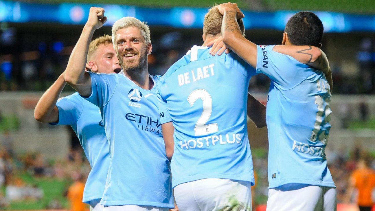 Ritchie de Laet fires Melbourne City to victory over Brisbane Roar