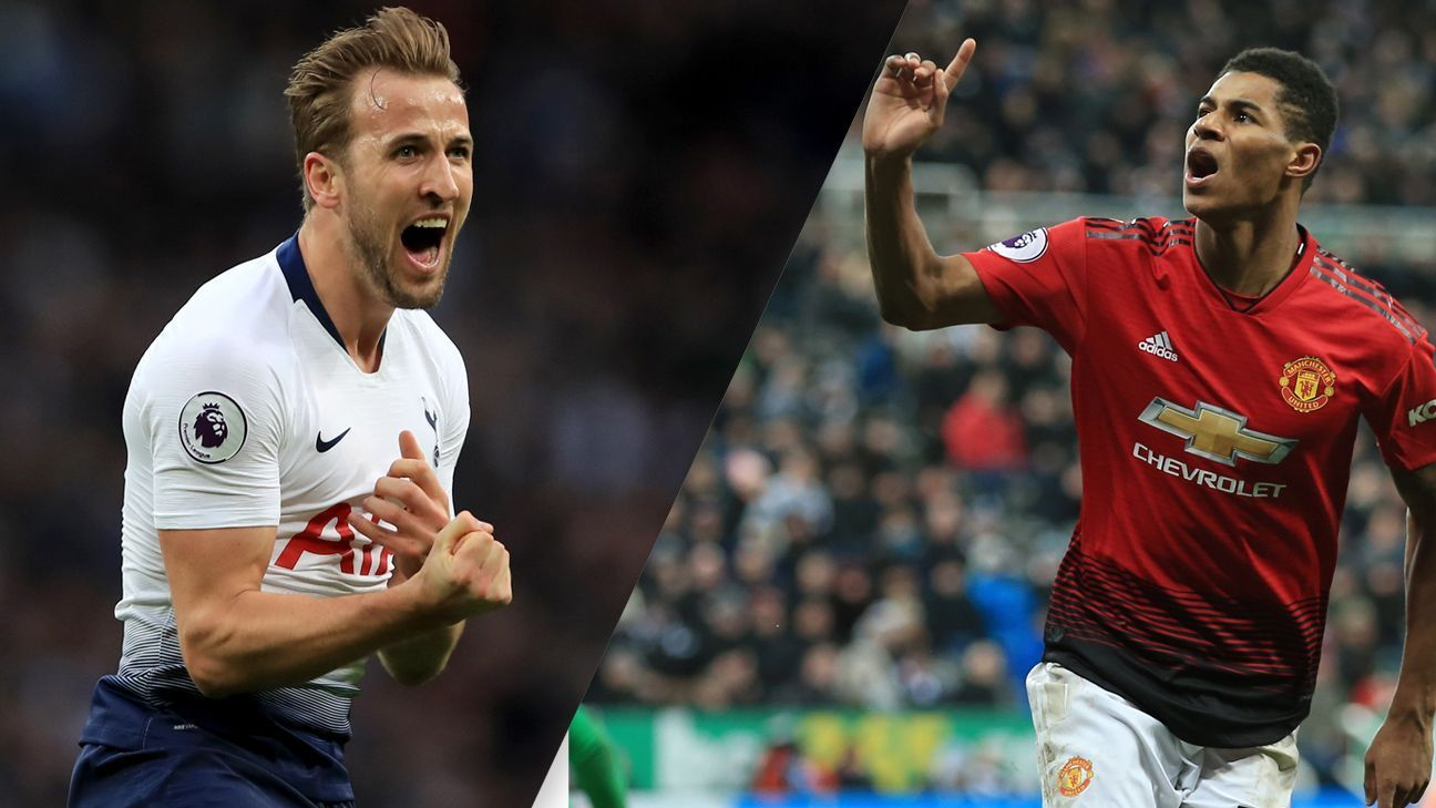 Manchester United's Rashford, Tottenham's Kane different versions of the new English striker
