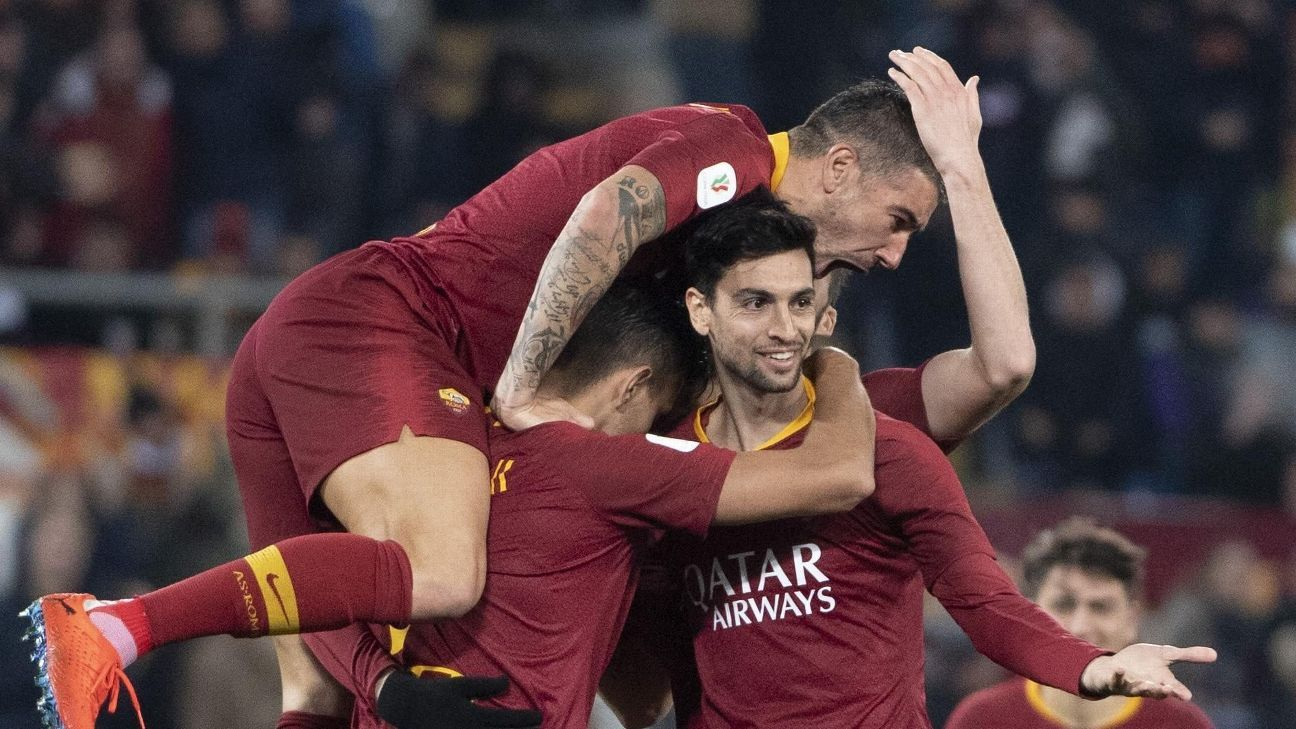 Con gol de Pastore, Roma goleó y avanzó en Copa Italia