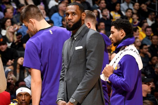 LeBron James (groin) won't be with Lakers on upcoming road trip