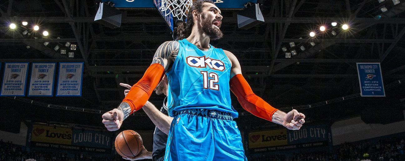 Thunder center Steven Adams is the NBA's immovable object