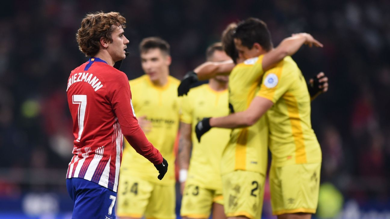 Girona knock Atletico Madrid out of Copa del Rey in six-goal thriller