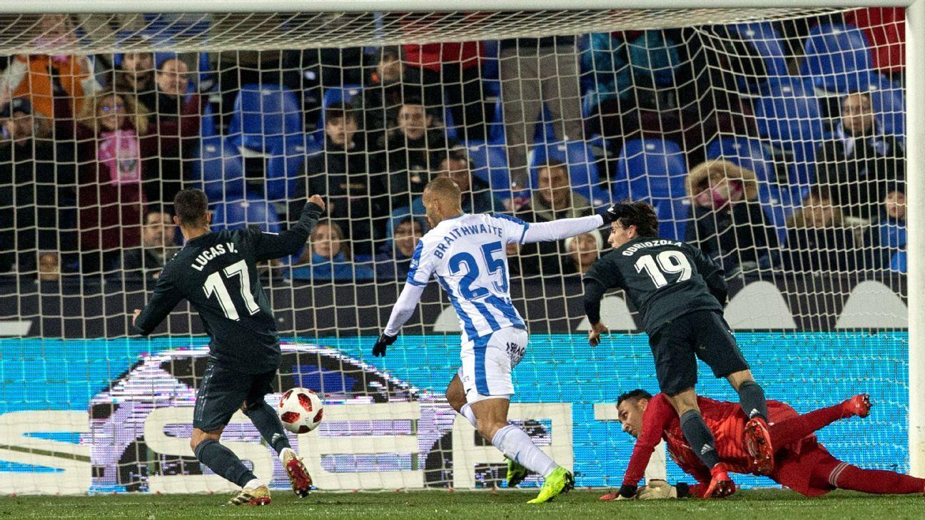 Real Madrid reach Copa del Rey quarters despite lacklustre loss to Leganes