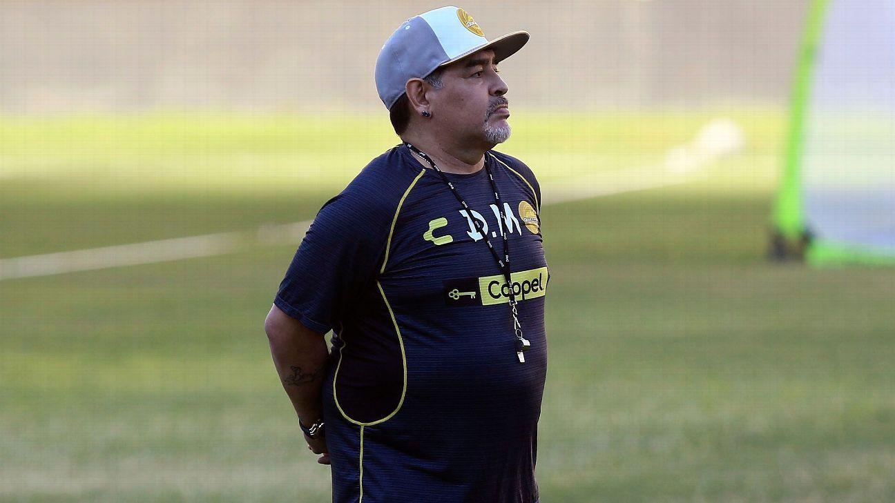 Seguridad de Maradona evitó cuidados en cancha de Dorados
