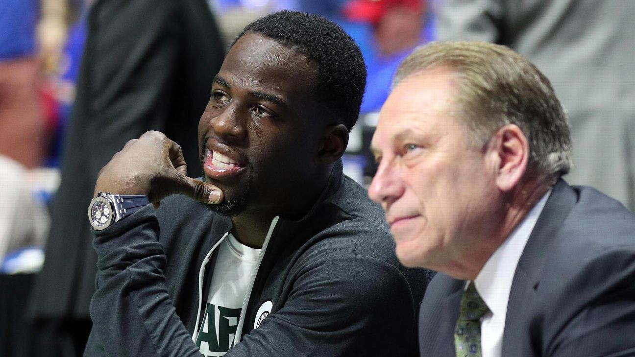 When times get tough for Draymond Green, he hears from Tom Izzo