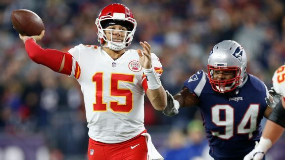 Patriots see Rodgers, Vick and a QB who 'does it all' in Mahomes