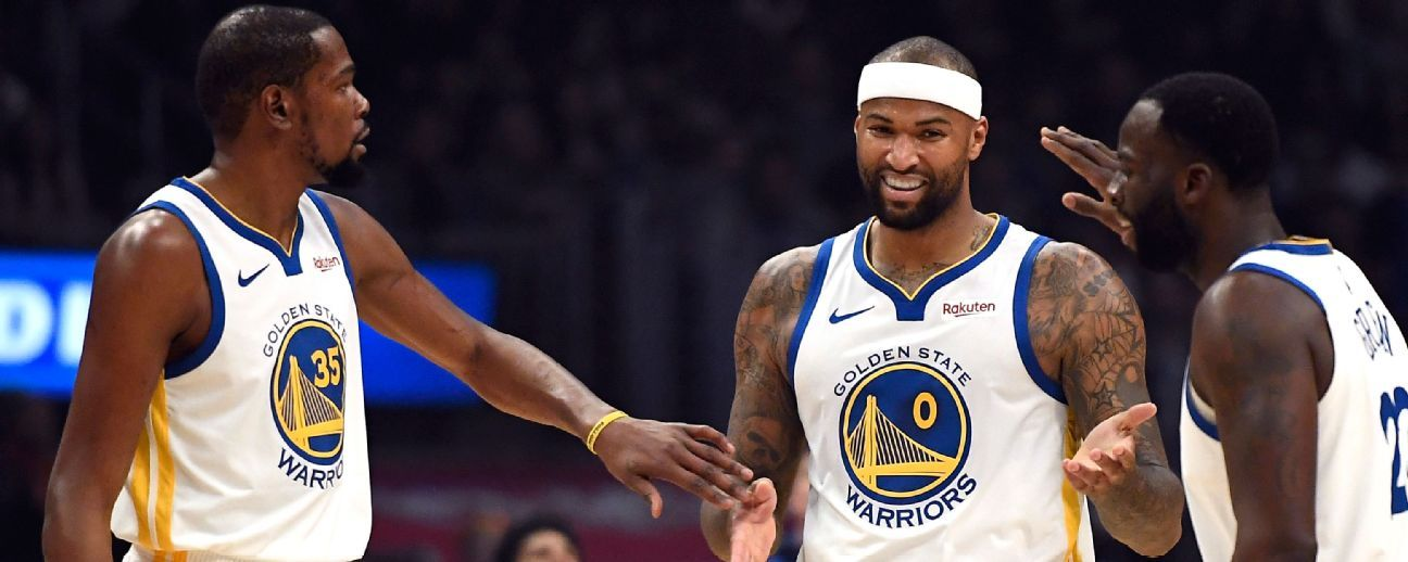 Warriors busca 'algo de redención' contra Lakers, esta vez con DeMarcus Cousins