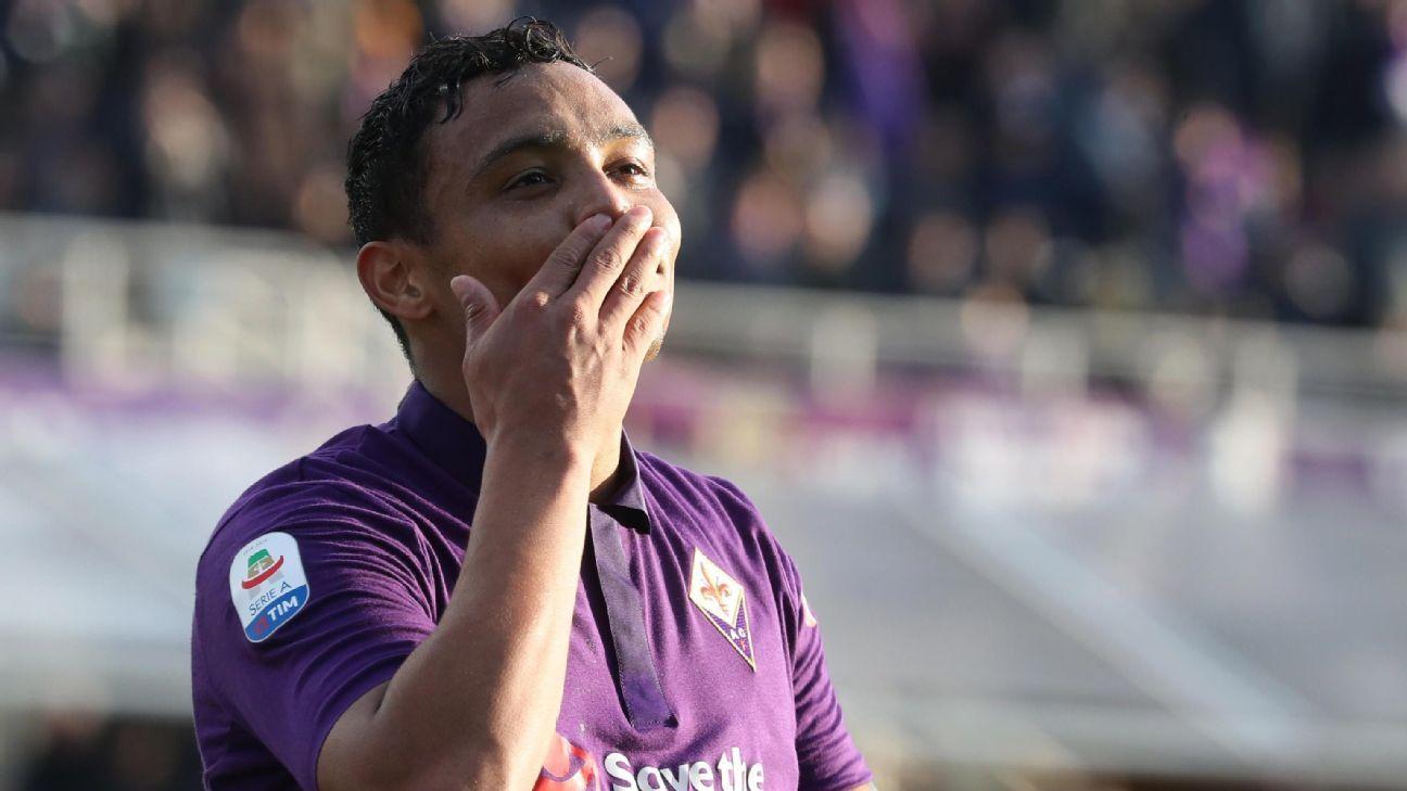 Con dos goles de Muriel y uno de Pezzella, Fiorentina empató con Sampdoria