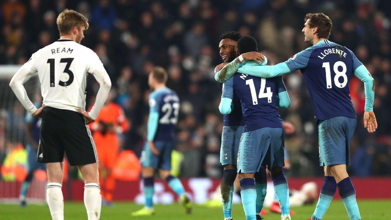 Tottenham dio vuelta el partido ante Fulham sobre la hora