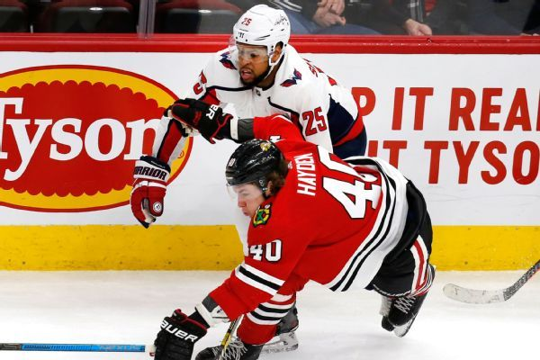 Caps' Devante Smith-Pelly plays first game in Chicago since racial taunts last Feb.