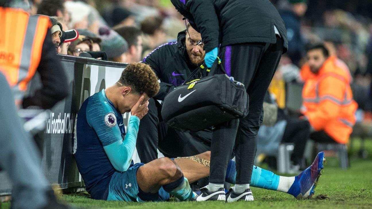 Dele Alli será baja en Tottenham hasta marzo