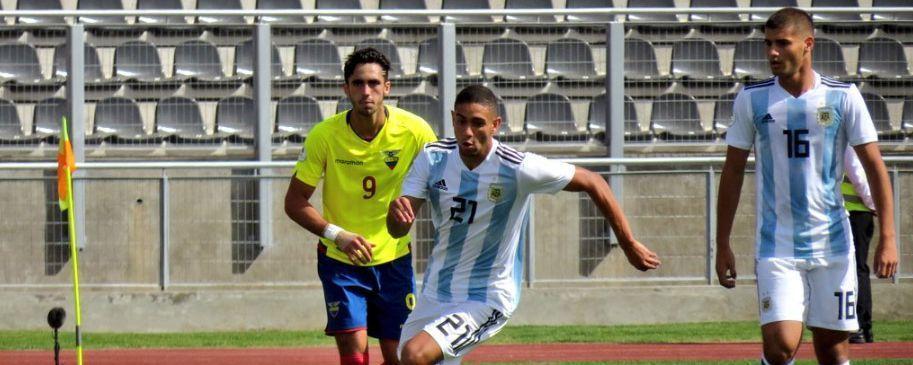 Sub 20: Argentina perdió 1-0 con Ecuador