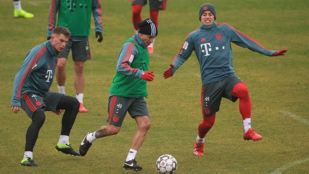 James regresó a los entrenamientos en Bayern tras su día libre