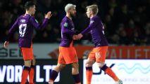 Manchester City earn 10-0 aggregate win over Burton Albion with Aguero goal