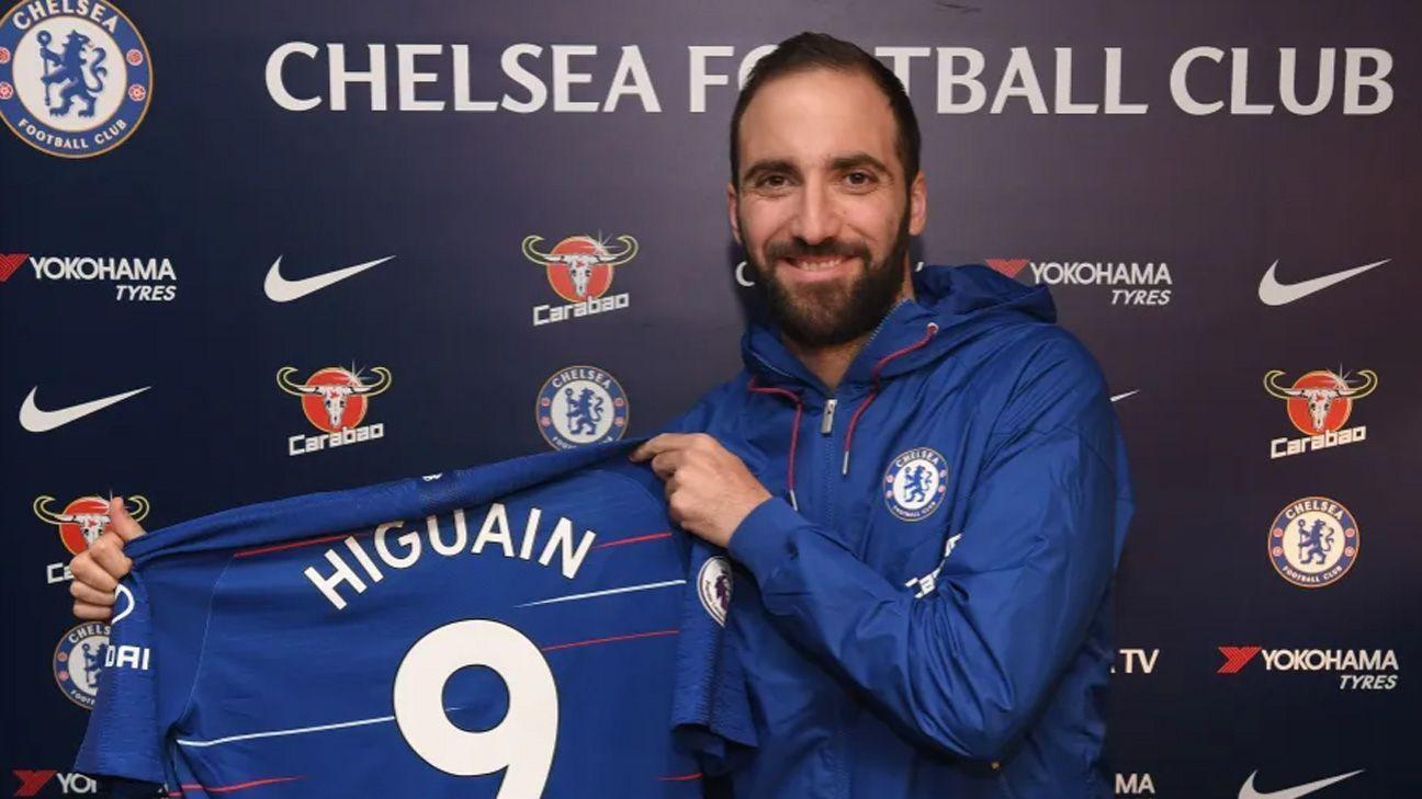 Gonzalo Higuaín es nuevo jugador del Chelsea