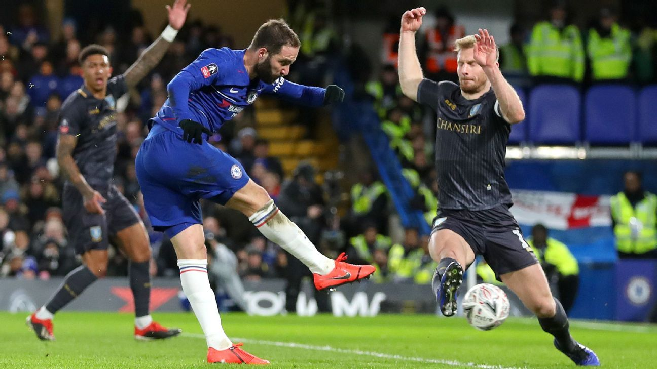 Chelsea cruise to FA Cup win as VAR denies Sheffield Wednesday penalty