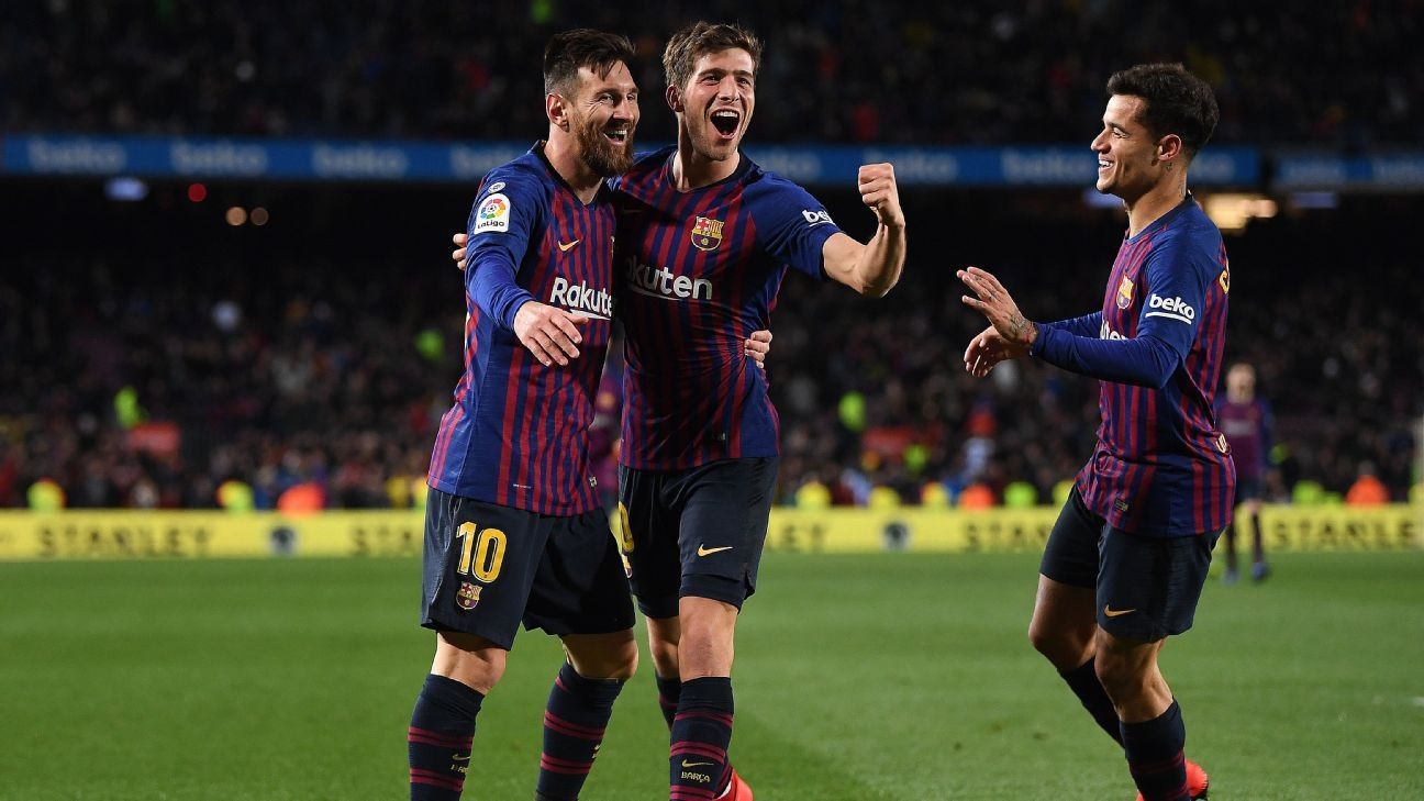 Coutinho double helps Barcelona cruise into Copa del Rey semis