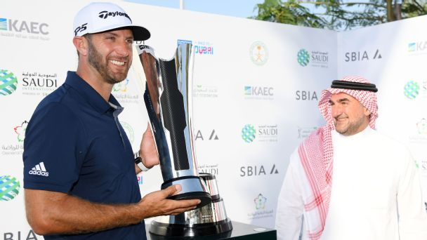 Dustin Johnson sees off Li Haotong challenge to win Saudi International