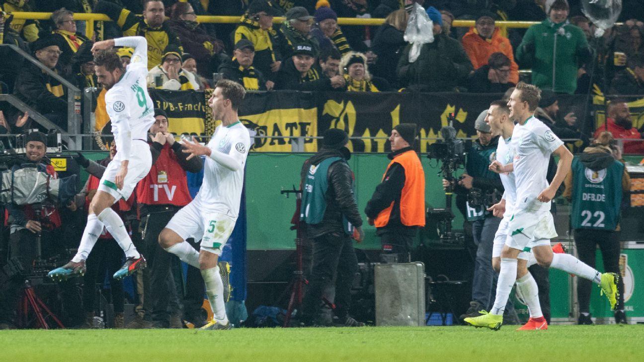 Borussia Dortmund exit German Cup to Bremen on penalties after 3-3 thriller