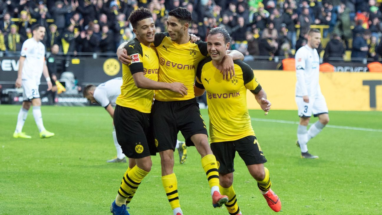 Borussia Dortmund lose 3-0 lead to draw with Hoffenheim and drop points