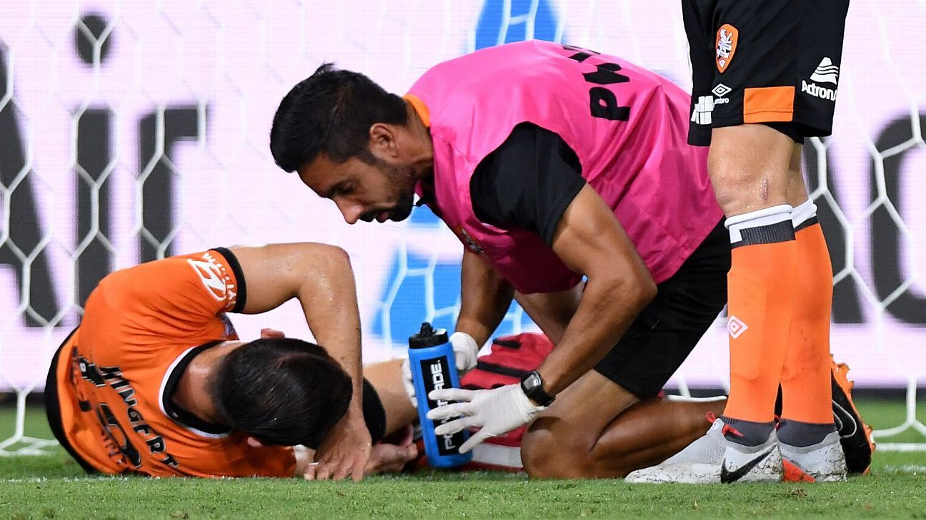 Brisbane Roar's Jack Hingert ruptures ACL, out for season