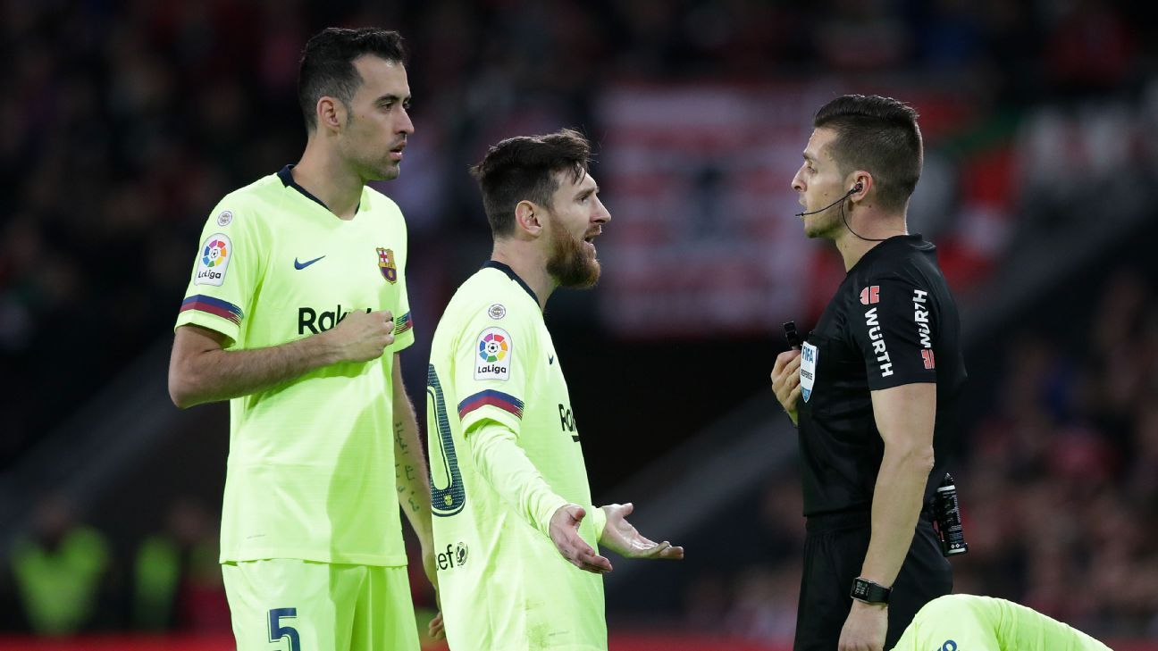 Barcelona held to draw by Athletic Bilbao despite Lionel Messi start